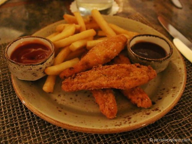 Kid's Meal Chicken Tenders at House without a Key, Halekulani Hotel Waikiki