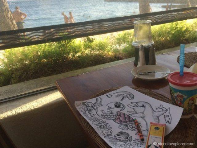 Kid's Coloring Book at Ocean House Restaurant Waikiki