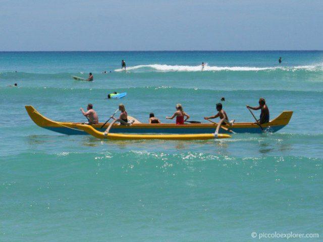 Outrigger Canoeing off Waikiki Beach, Oahu