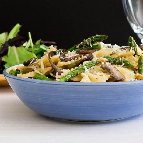 Asparagus and Mushroom Farfalle