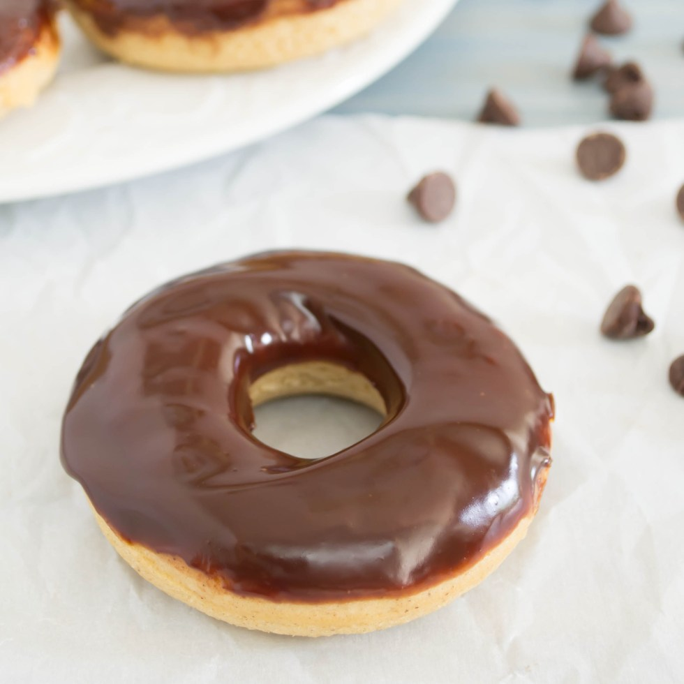 Chocolate Frosted Chocolate Cake Donut