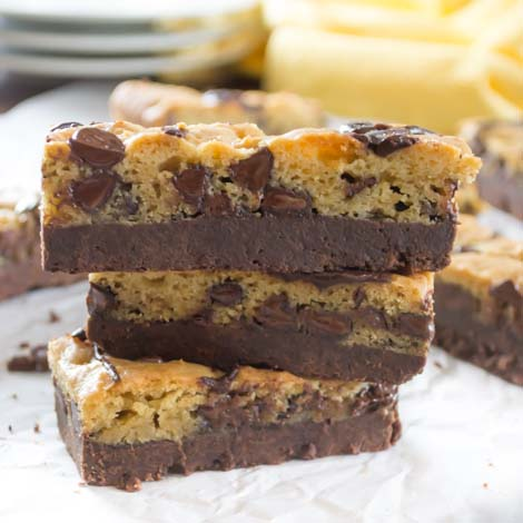 Triple Chocolate Cookie Bars