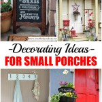 Small porch, decorating small porches, DIY home improvement, DIY porch decor, popular pin, curb appeal. DIY curb appeal projects.