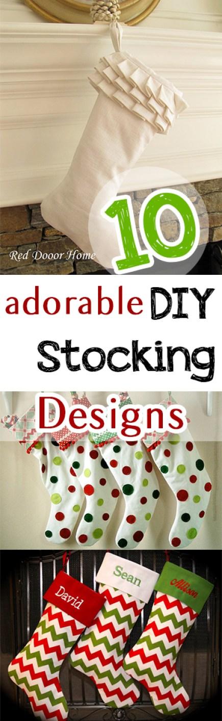 10 Adorable DIY Stocking Designs