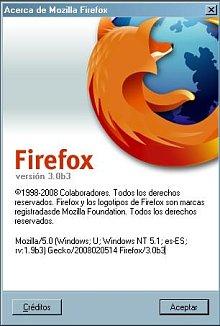 About de Firefox 3 beta