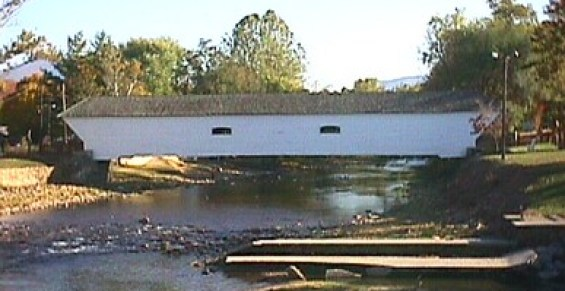 Covered Bridge in Elizabethton, Tennesse - the site of our first date and where I proposed