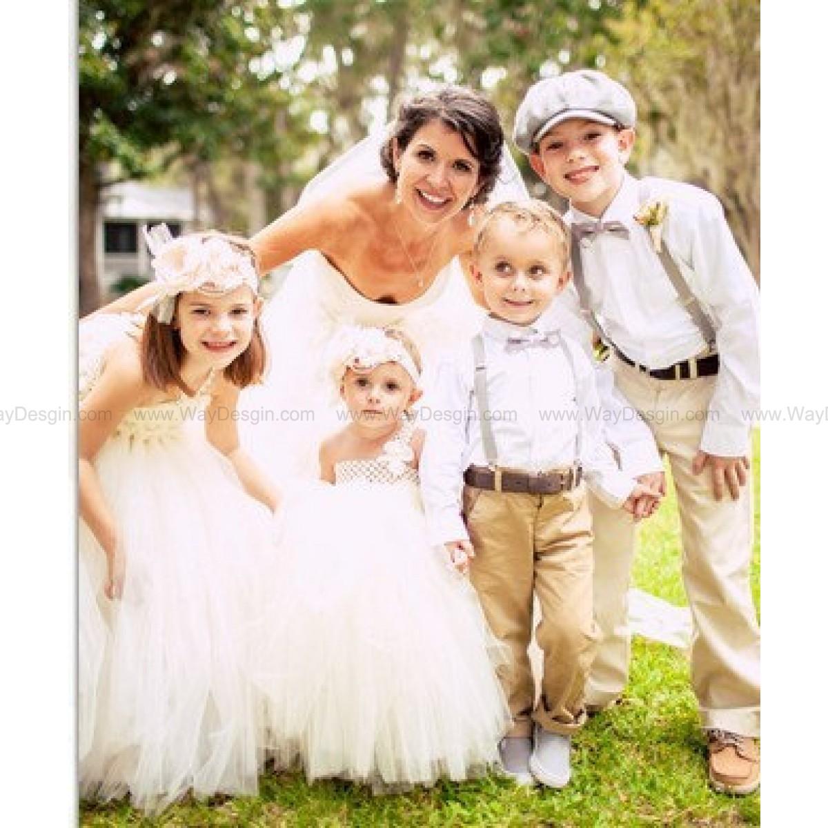 baby wedding dresses Ivory tutu dress Flower Girl Dress baby dress toddler birthday dress wedding dress