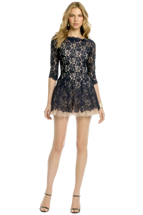 Medium Of Navy Blue Lace Dress
