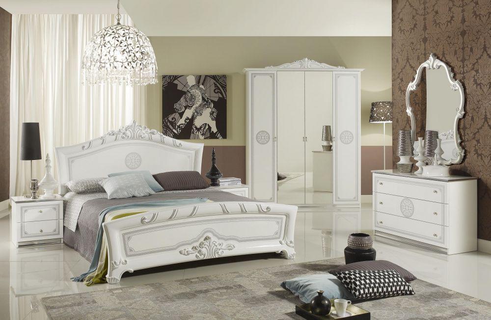 ... Schlafzimmer Great Weiss Silber Klische Design Italienisch 18 ...