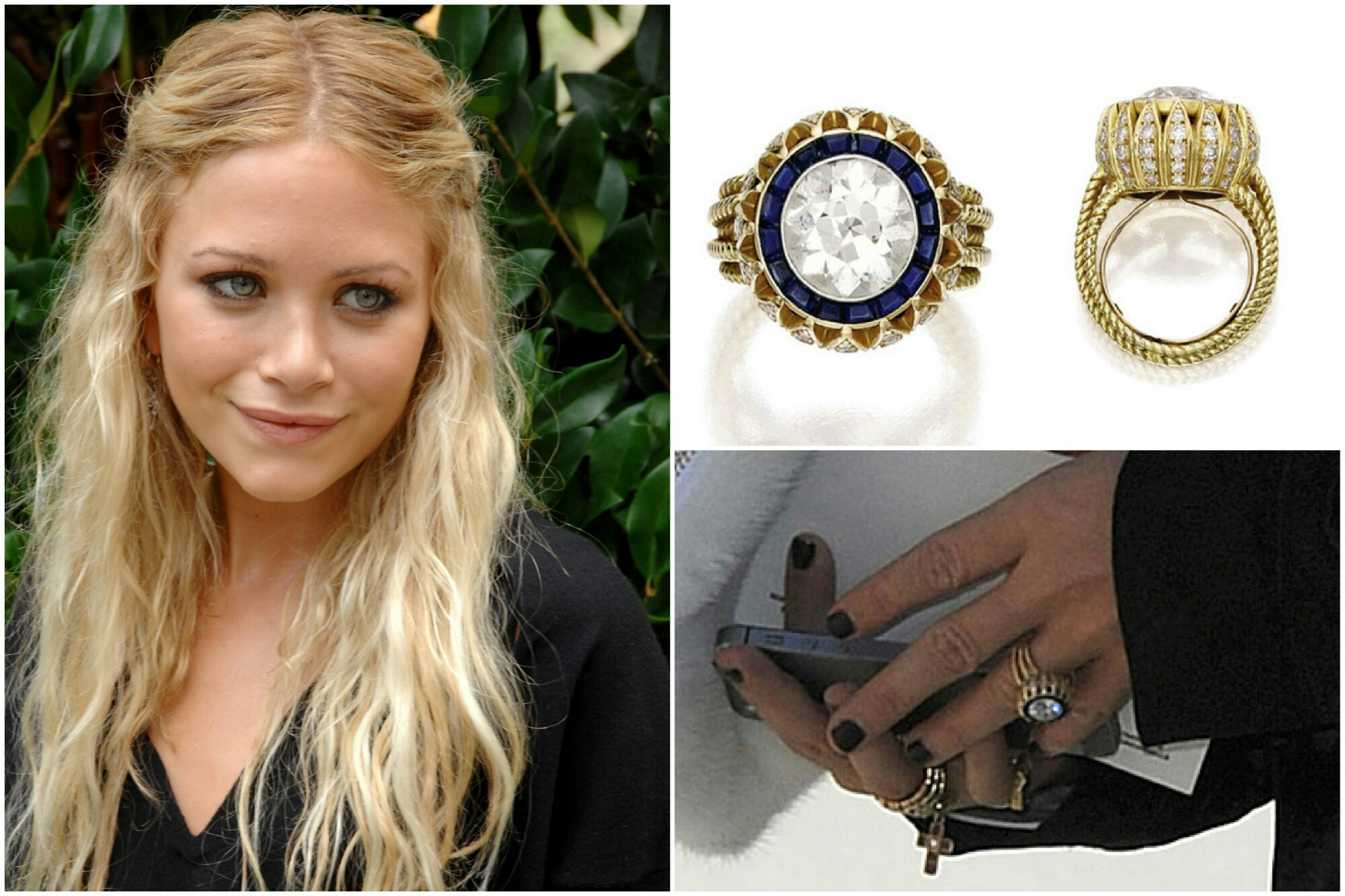 celebrities with vintage engagement rings vintage sapphire wedding bands image
