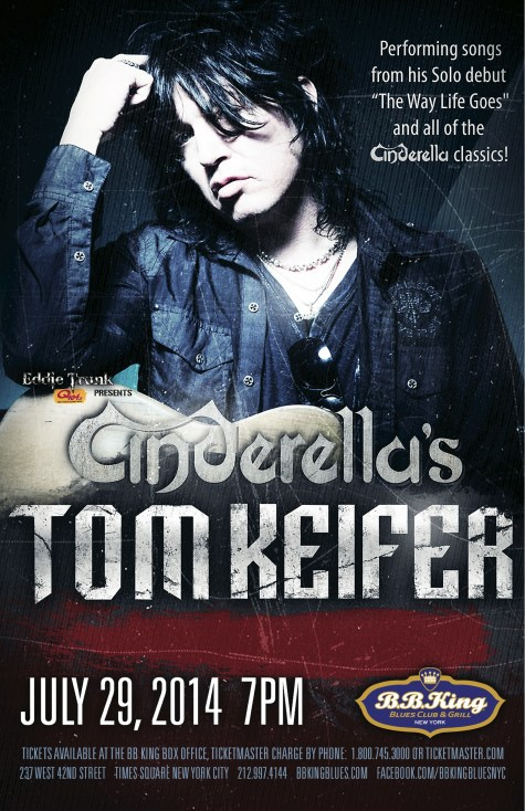 Poster - Tom Kiefer at BB Kings - 2014