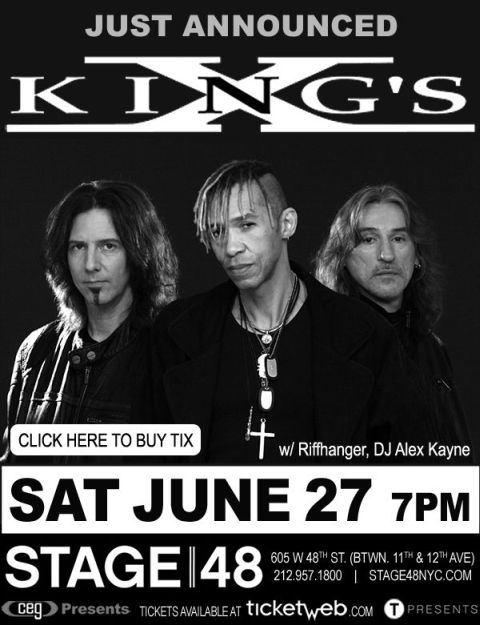 Poster - Kings X at Stage 48 - 2015