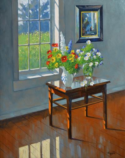 fleurs et sc nes d int rieur pierre tougas artiste peintre. Black Bedroom Furniture Sets. Home Design Ideas
