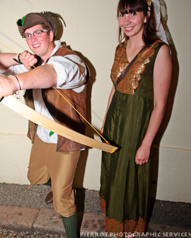Cromer carnival fancy dress Robin Hood and maid Marion