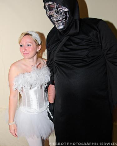 Cromer carnival fancy dress ballerina with monster