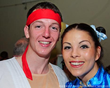 Cromer carnival fancy dress couple in fancy dress