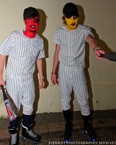 Cromer carnival fancy dress two baseball players