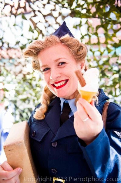 Attractive girl with ice cream