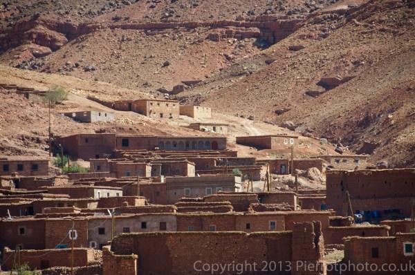 Hidden village in the Atlas mountains. Morocco