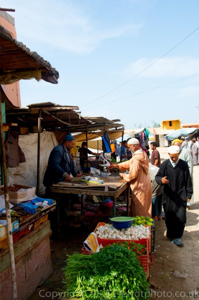 Typical Moroccan market