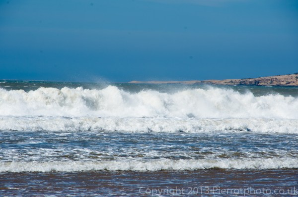 The waves and sea at Essaouira, Morocco