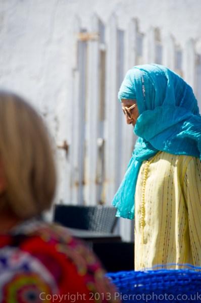 Moroccan woman in the medina in Essaouira, Morocco