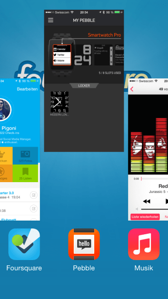 Akkulaufzeit iPhone Multitasking