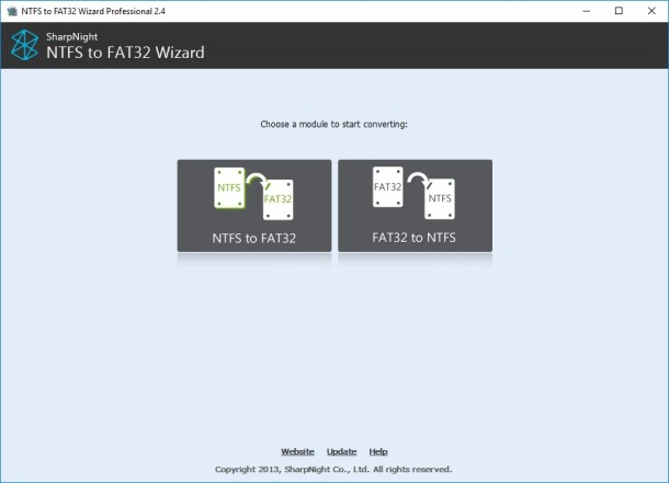 [PORTABLE] NTFS to FAT32 Wizard v2.4 - Eng