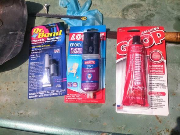 Various Plastic Glues