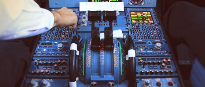 Pedastal und Schubhebel Airbus A320