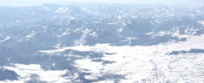 Die Alpen aus dem Cockpit