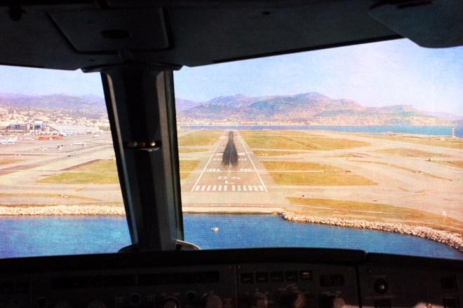 Final Approach NCE Jumpseat