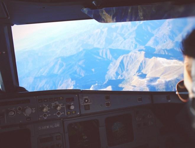Pyrenäen aus dem Cockpit
