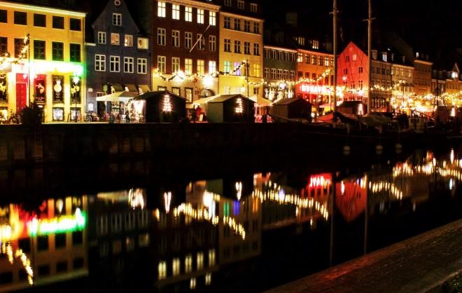 Weihnachten in Kopenhagen, Nyhavn in der Nacht