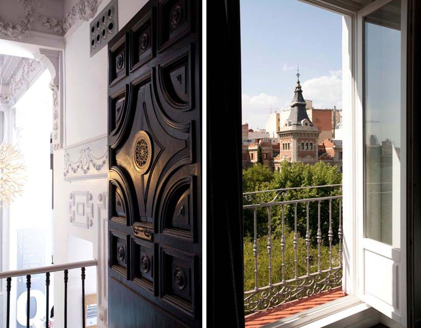 balcon and reception