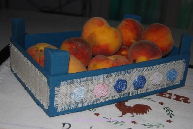 Cajas de fruta para fruta pinceladas de rosas - Cajas de fruta decoradas ...