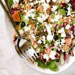 Genuine Smoked Farro Goat Cheese Salad Pinch Swirl Goat Cheese Salad Calories Goat Cheese Salad Strawberries