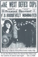 Front page news: Mae West Arrested
