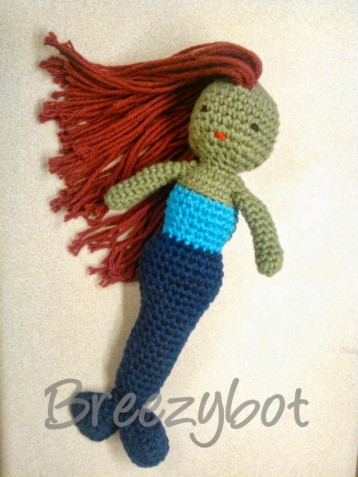 Crochet Pattern Mermaid Doll : Crochet Mermaid Dolls Free Pattern Roundup - Pink Mambo