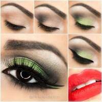 Step By Step Bright Green Smokey Eye Tutorial