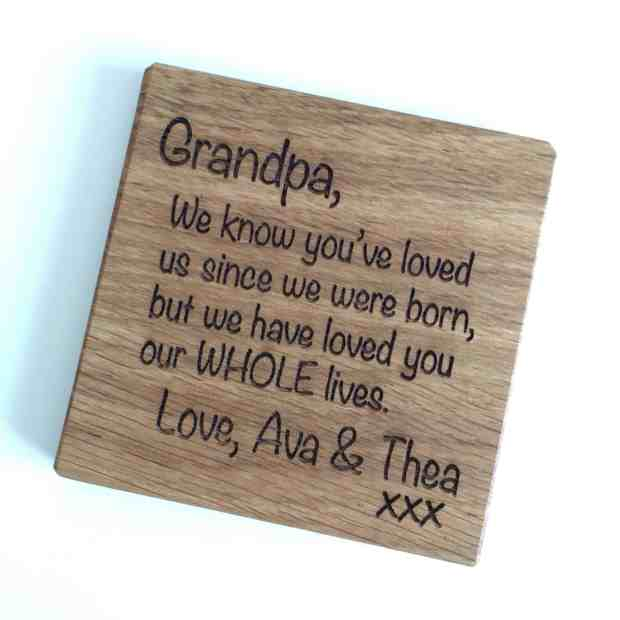Bespoke & Oak personalised coaster