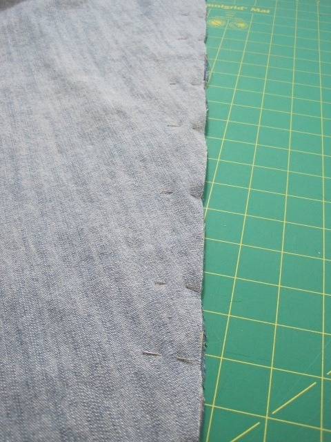 Pins needed for easing in a little extra fabric in a long seam