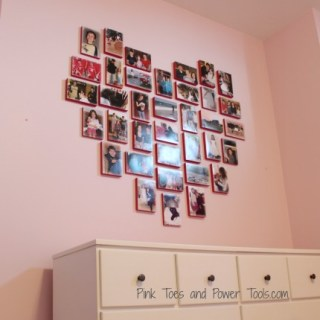 Scrap wood heart collage