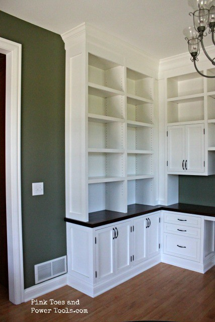 Dining Room Home Office built ins shelf view