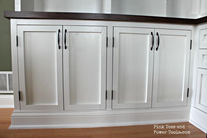 Inset doors installed