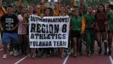 """Team Yolanda"" in their Victory March."