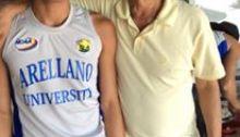 Aristeo Dela Pena with coach Pines Lim.