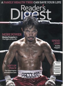 People's Champ Manny Pacquiao covers the Readers Digest