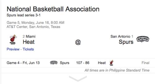 Miami Heat vs San Antonio Spurs Game 5 of the Finals