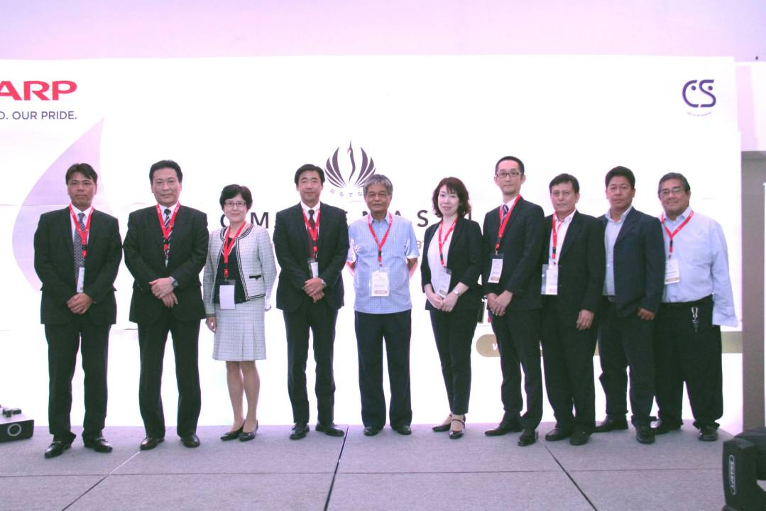Executives posing for Sharp Philippines